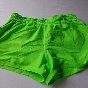 NWT Womens Under Armour Neon Running Shorts Sz XS
